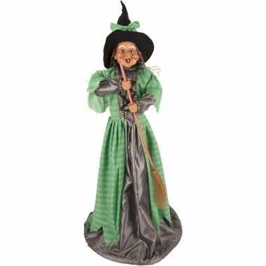 Halloween heks versiering pop groen 70 cm halloween versiering