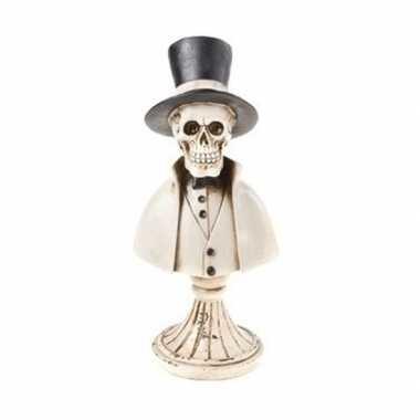 Halloween skelet halloween versiering beeldje 31 cm