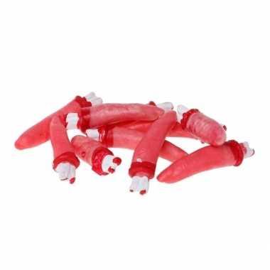 Halloween versiering bloederige vingers 10 stuks