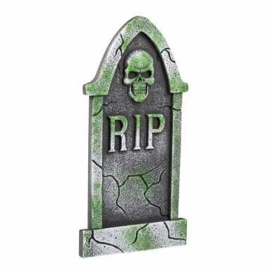 Halloween versiering halloween grafsteen schedel 40 cm