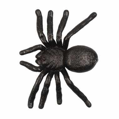 Halloween zwarte grote halloween versiering spin met glitters