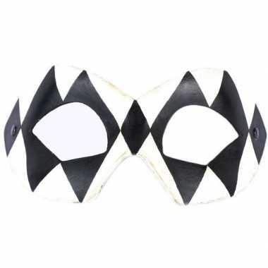 Handgemaakt versiering oogmasker harlekijn