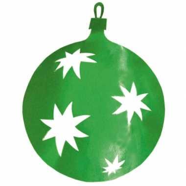 Hangversiering kerstbal groen 30 cm