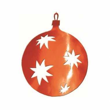 Hangversiering kerstbal rood 30 cm