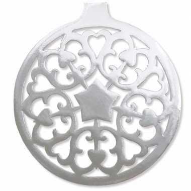 Hangversiering kerstbal zilver 32 cm