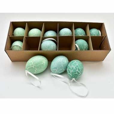 Hangversiering kippen eieren mintgroen 12 stuks
