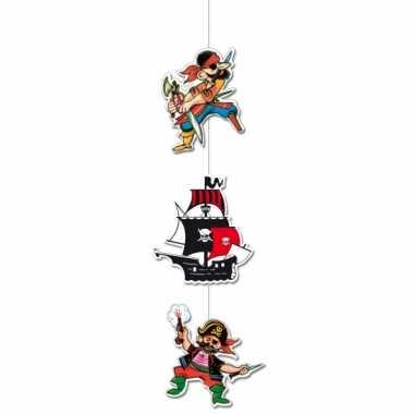 Hangversiering met 2 piraten en schip