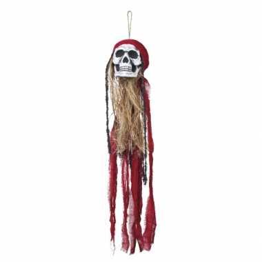 Hangversiering piraat schedel 90 cm