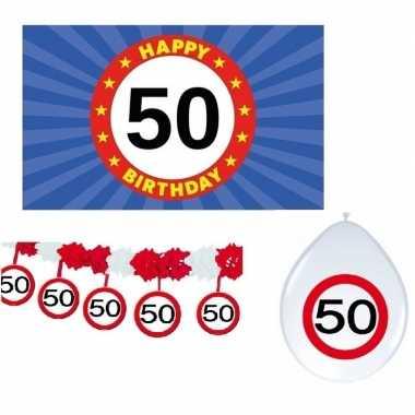Happy birhday/verjaardag pakket /versiering 50 jaar