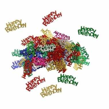 Happy birthday versiering confetti 60 gram