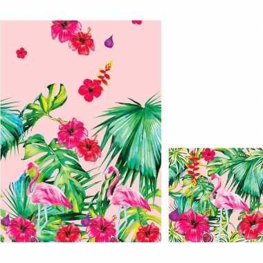 Hawaii thema tafelversiering set tafelkleed/servetten