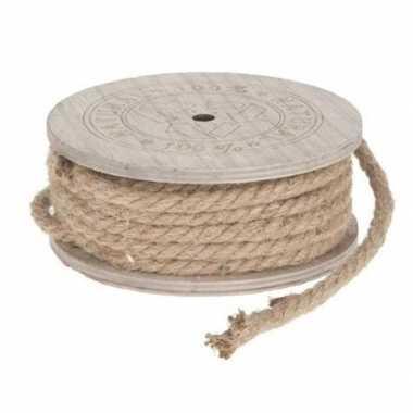 Hobby/versiering touw van jute 700 cm
