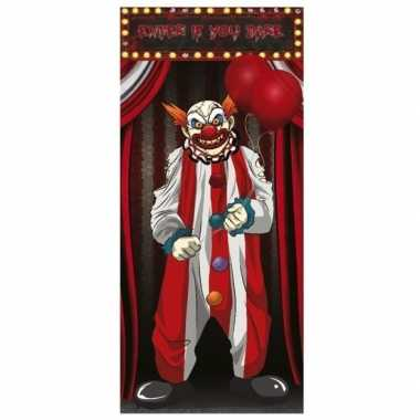 Horror clown poster 75 x 150 cm halloween versiering