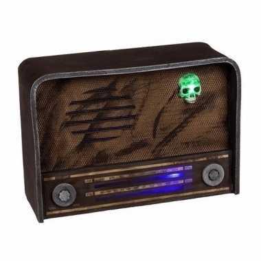 Horror radio versiering met licht en geluid
