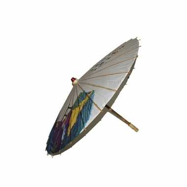 Houten versiering paraplu 85 cm