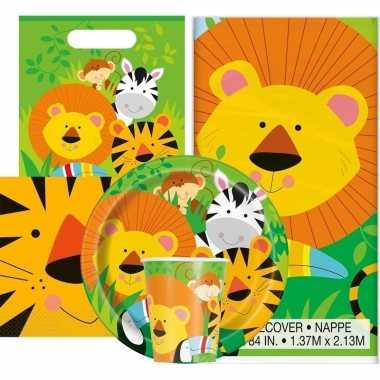 Jungle thema kinderfeestje versiering pakket 9 16 personen