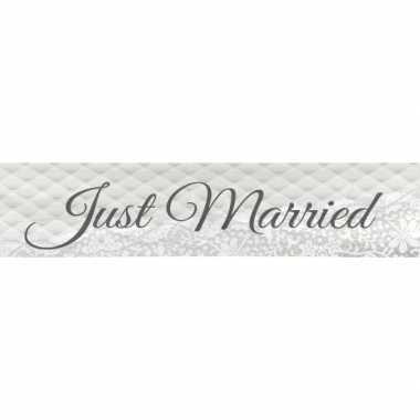 Just married bruiloft versiering banner 360 cm