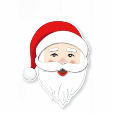 Kerst hangversiering kerstman hoofd