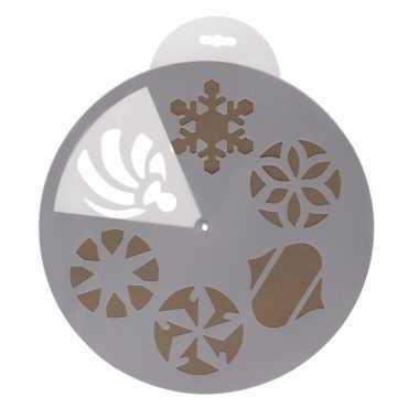Kerst raamsjablonen/raamversiering 6 stuks 30 cm
