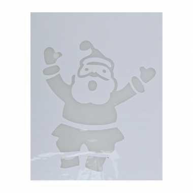 Kerst raamsjablonen/raamversiering kerstman plaatjes 35 cm