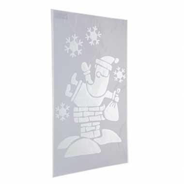 Kerst raamsjablonen/raamversiering kerstman plaatjes 54 cm