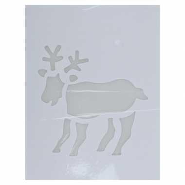Kerst raamsjablonen/raamversiering rendier plaatjes 35 cm