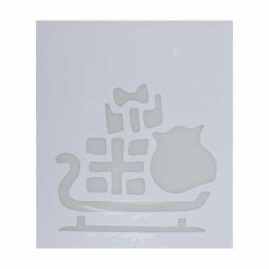 Kerst raamsjablonen/raamversiering slee plaatjes 35 cm