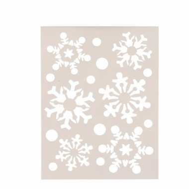 Kerst raamsjablonen/raamversiering sneeuwvlokken plaatjes 30 cm