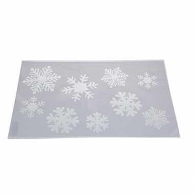 Kerst raamsjablonen/raamversiering sneeuwvlokken plaatjes 54 cm