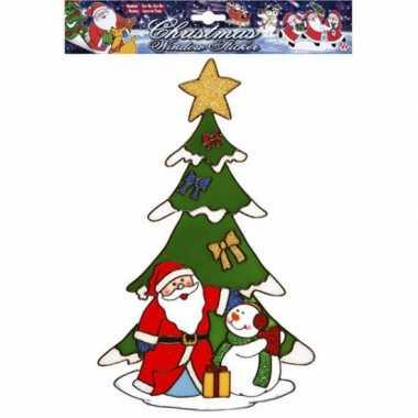 Kerst raamstickers/raamversiering kerstman plaatjes 30 cm