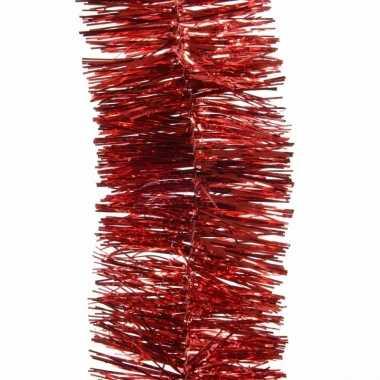 Kerst rode kerstslinger 7 x 270 cm kerstboom versieringen