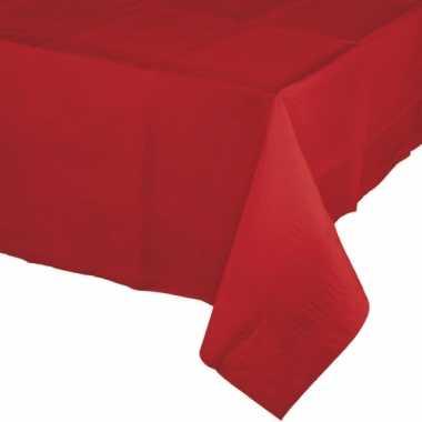 Kerst tafelversiering tafelkleed rood 274 x 137 cm papier