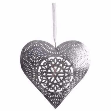 Kerst versiering hart hanger groot type 1