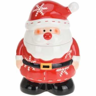 Kerst versiering koekpot/snoeppot kerstman 23 cm