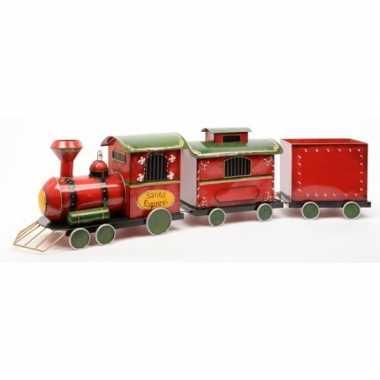 Kerst versiering locomotief van ijzer 132 cm