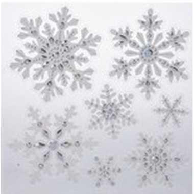 Kerst versiering raamstickers sneeuwvlok/ijsster 31 x 39 cm