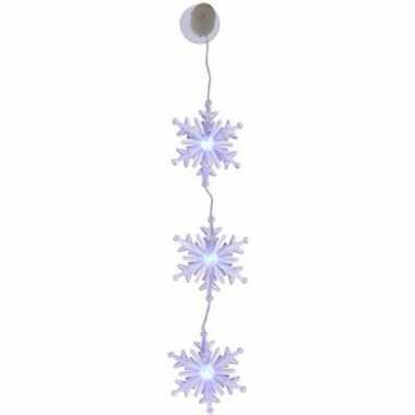 Kerst versiering sneeuwvlok slinger type 3 met led verlichting
