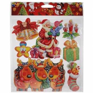 Kerst versiering stickers rood/groen/multi type 2