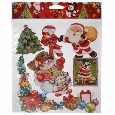 Kerst versiering stickers rood/groen/multi type 3