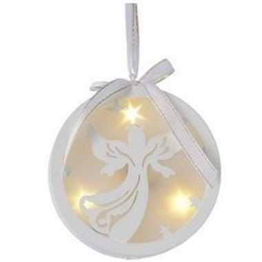 Kerstbal/engel kerstversiering hangversiering met led licht