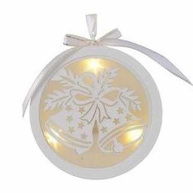 Kerstbal/kerstklok kerstversiering hangversiering met led licht