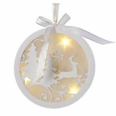 Kerstbal/rendier kerstversiering hangversiering met led licht