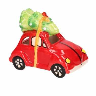Kerstboom versiering auto hanger met licht type 4