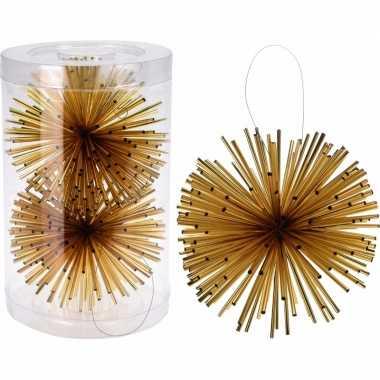 Kerstboom versiering kerstbol goud 11 cm