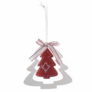 Kerstboom versiering rode kerstboom 10 cm