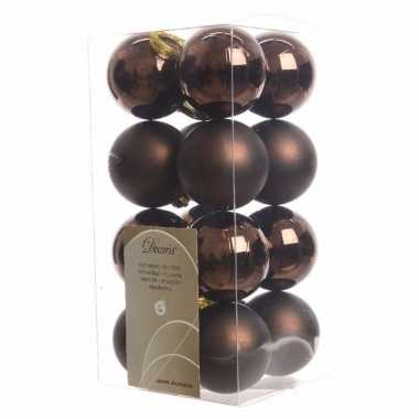 Kerstboomversiering bruine ballen 4 cm