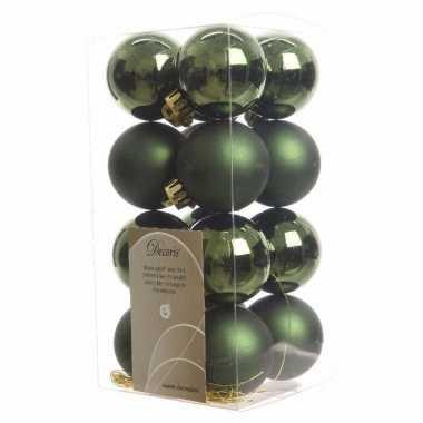 Kerstboomversiering groene ballen 4 cm