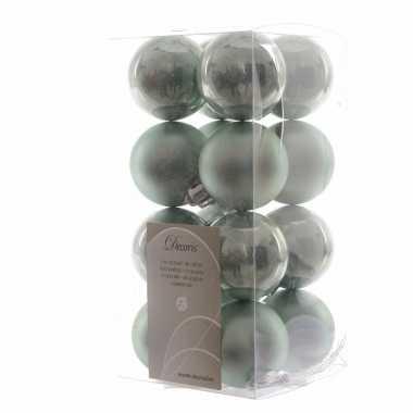 Kerstboomversiering mintgroene ballen 4 cm