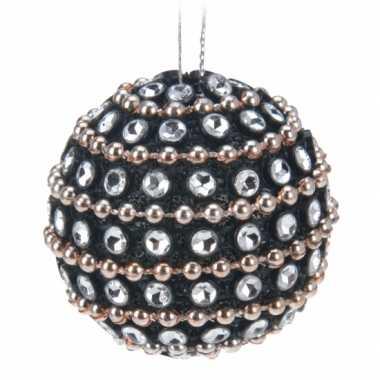 Kerstboomversiering zwarte kerstballen