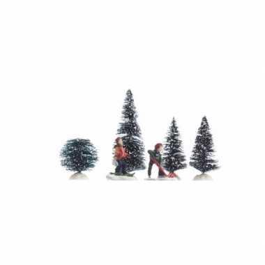 Kerstdorp maken versiering spelende kinderen 26 5 cm type 1